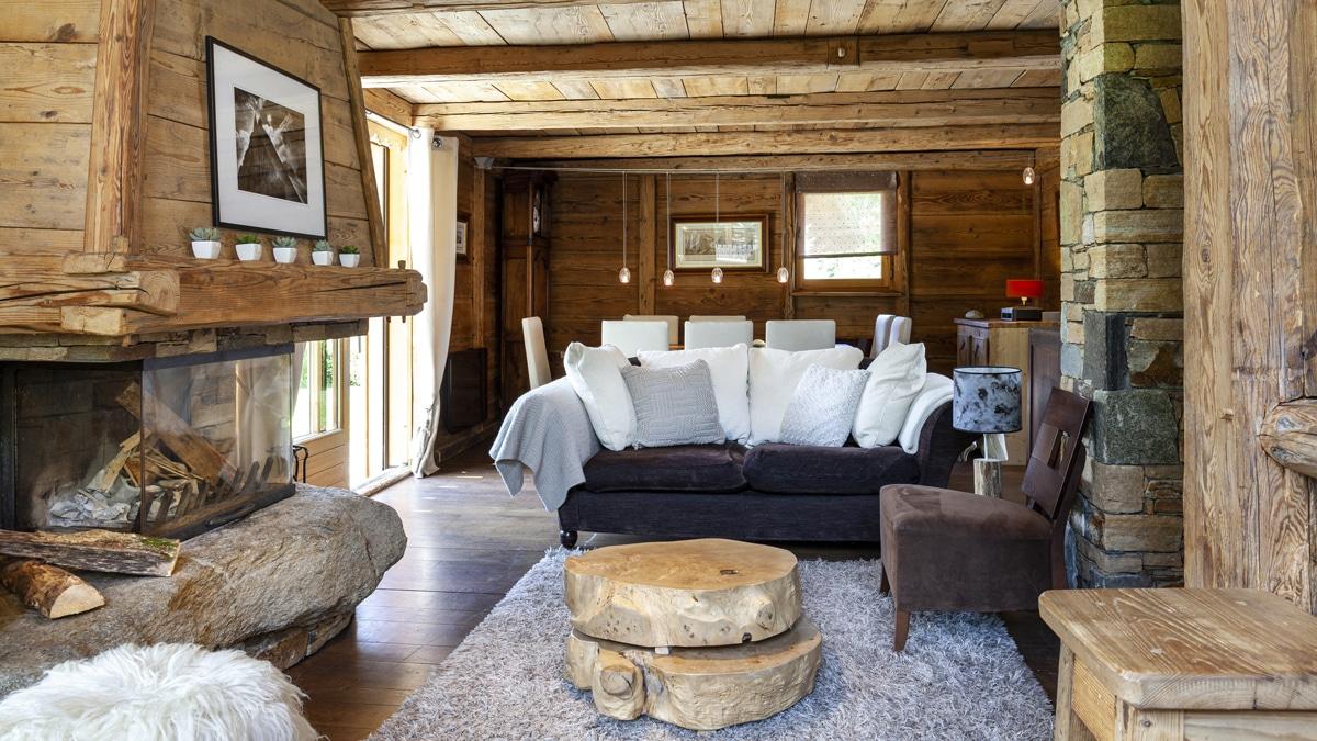 Salon du chalet des bois location de vacances. chamonix